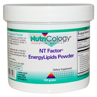 Nutricology, NT Factor, EnergyLipids Powder, 150 grams