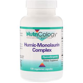 Nutricology, Complejo de ácido húmico-monolaurina, 120 cápsulas vegetarianas