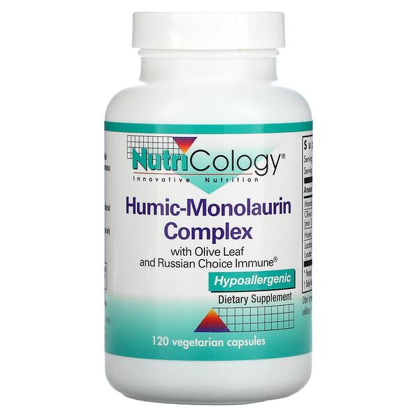 Nutricology, مركب هيوميك-مونولورين، 120 كبسولة نباتية