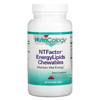 Nutricology, عامل NT ليبيدات الطاقة، للمضغ، 60 قرص للمضغ