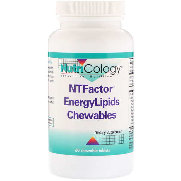Nutricology, NT Factor能量脂質咀嚼片,60片