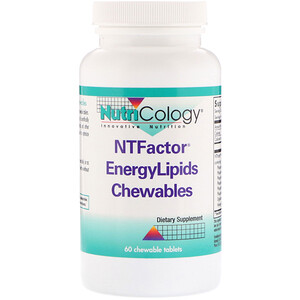 Нутриколоджи, NTFactor EnergyLipids Chewables, 60 Chewable Tablets отзывы