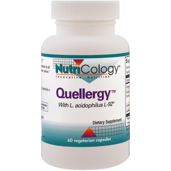 Nutricology, Quellergy with L. Acidophilus L-92, 60 Vegetarian Capsules (Discontinued Item)