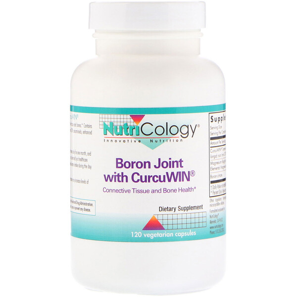 Boron Joint with CurcuWin, 120 Vegetarian Capsules