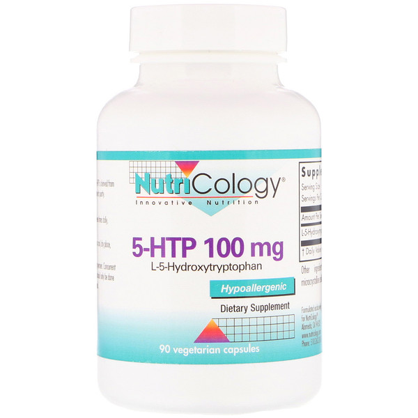 Nutricology, 5-HTP, 100 mg , 90 Vegetarian Capsules (Discontinued Item)