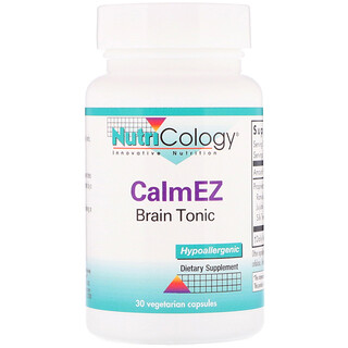 Nutricology, CalmEZ, Brain Tonic, 30 Vegetarian Capsules