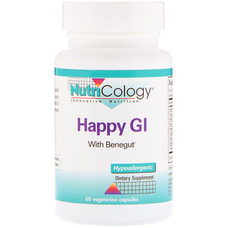 Nutricology, Happy GI, 60 Vegetarian Capsules