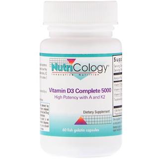 Nutricology, Vitamin D3 Complete 5000, 60 Fish Gelatin Capsules