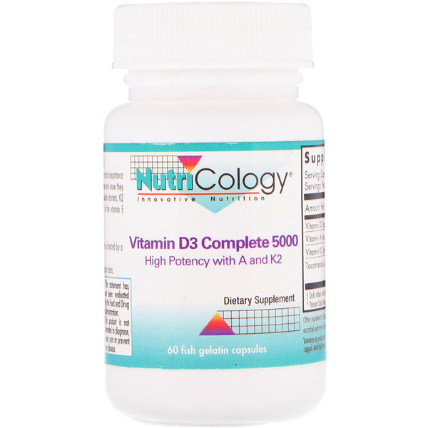 Nutricology, Vitamin D3 Complete 5000, 60 Fish Gelatin Capsules (Discontinued Item)