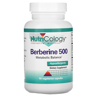 Nutricology, 黄连素 500,90 粒素食胶囊