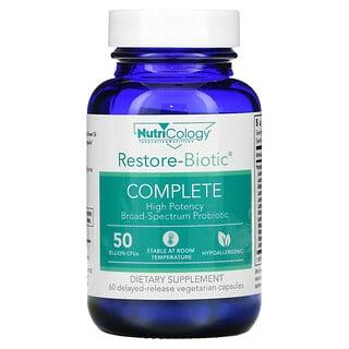 Nutricology, Restore-Biotic 完整,500 亿,60 粒缓释素食胶囊