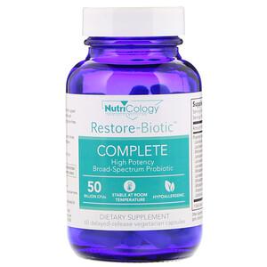 Нутриколоджи, Restore-Biotic Complete, 50 Billion, 60 Delayed-Release Vegetarian Capsules отзывы