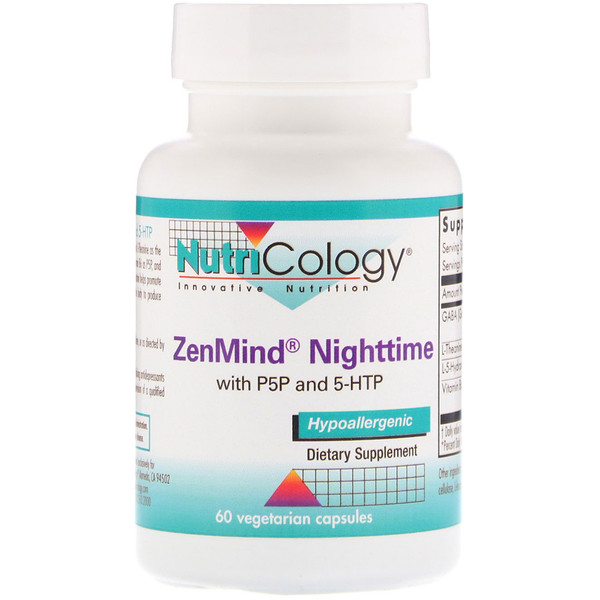 ZenMind Nighttime with P5P and 5-HTP, 60 Vegetarian Capsules