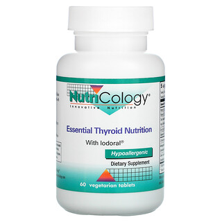Nutricology, Essential Thyroid Nutrition with Iodoral, 60 Vegetarian Tablets