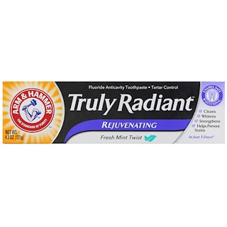 Arm & Hammer, Truly Radiant, Rejuvenating Toothpaste, Fresh Mint Twist, 4.3 oz (121 g)