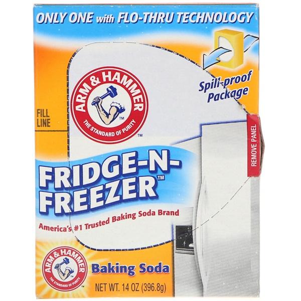 Arm & Hammer, Fridge-N-Freezer Baking Soda, 14 oz (396.8 g)