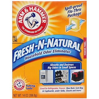 Arm & Hammer, Fresh-n-Natural家用除味劑及發麵蘇打,14盎司(396.8克)
