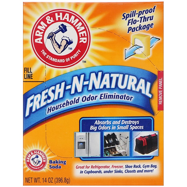 Arm & Hammer, Fresh-n-Natural Household Odor Eliminator Baking Soda, 14 oz (396.8 g) (Discontinued Item)