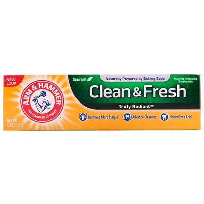 Arm & Hammer Truly Radiant, Clean & Fresh Toothpaste, Spearmint, 4.3 oz (121 g)