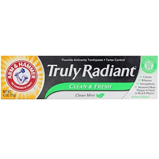 Arm & Hammer, Truly Radiant, Clean & Fresh Toothpaste, Clean Mint, 4.3 oz (121 g)