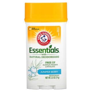 Arm & Hammer, Essentials con desodorantes naturales, Desodorante, Limpieza, Bayas de enebro, 71g (2,5oz)