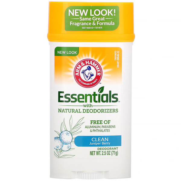 Essentials with Natural Deodorizers, Deodorant, Clean Juniper Berry, 2.5 oz (71 g)