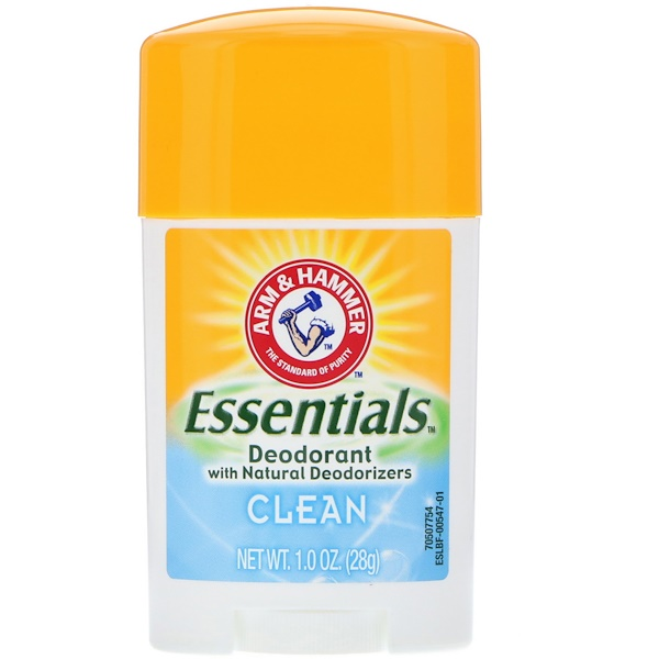 Arm & Hammer, Déodorant naturel Essentials, pur, 28 g (1,0 oz)