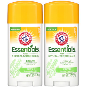Arm & Hammer, Essentials with Natural Deodorizers, Deodorant, Fresh Rosemary Lavender, Twin Pack, 2.5 oz (71 g) Each отзывы