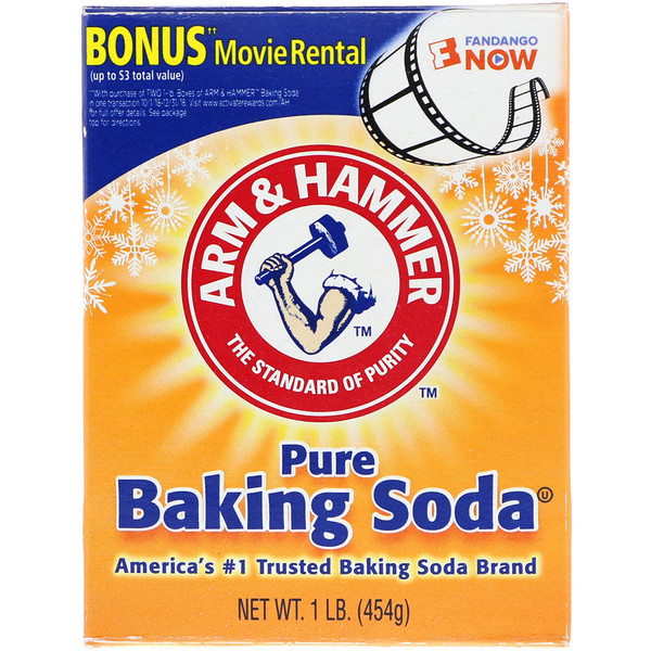 Arm & Hammer, Pure Baking Soda, 1 lb (454 g) (Discontinued Item)