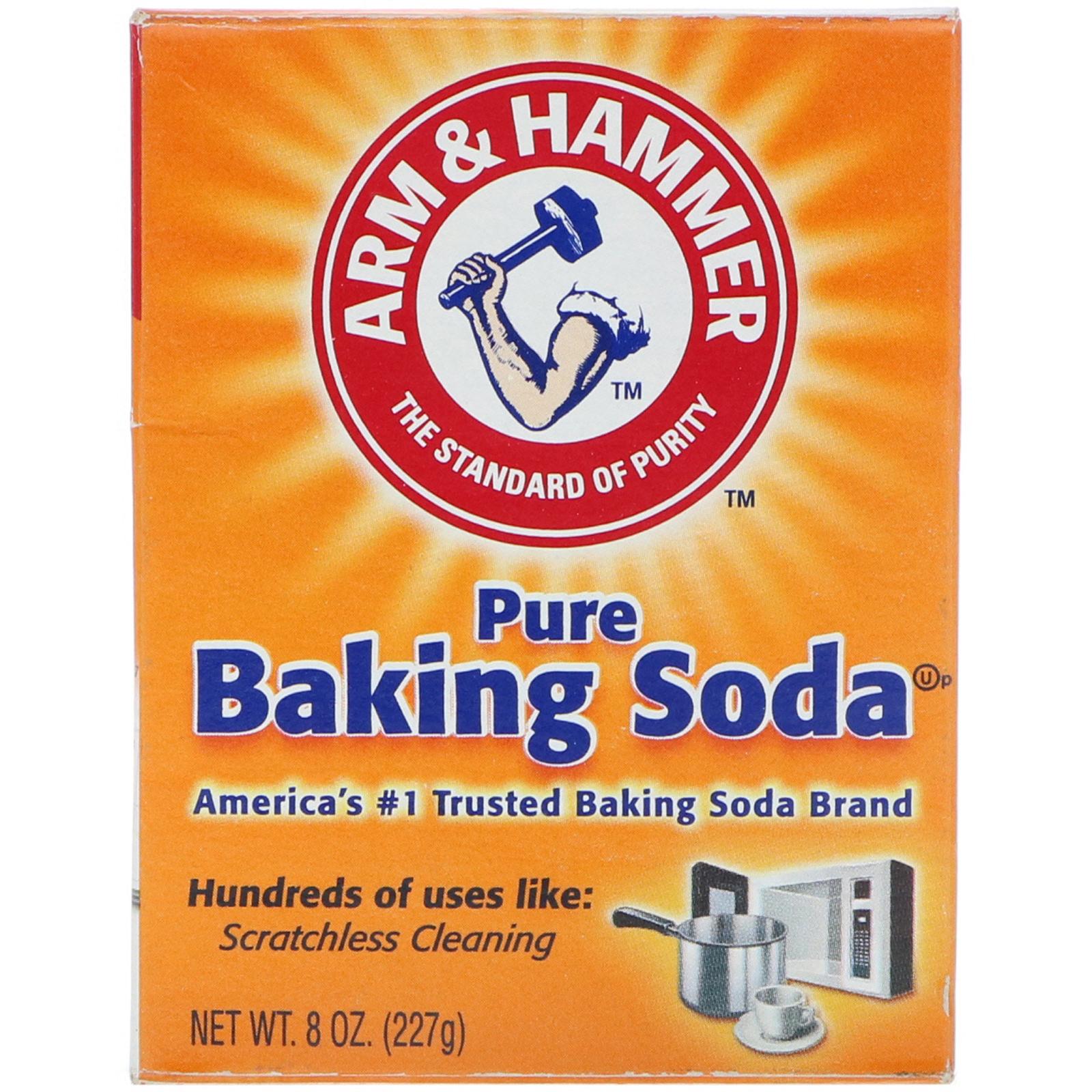 arm hammer pure baking soda 8 oz 227 g iherb com