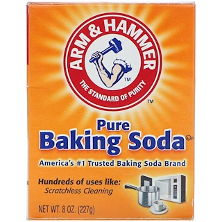 Arm & Hammer, Pure Baking Soda, 8 oz (227 g)