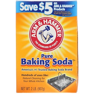 Arm & Hammer, Pure Baking Soda, 2 lb (907 g)