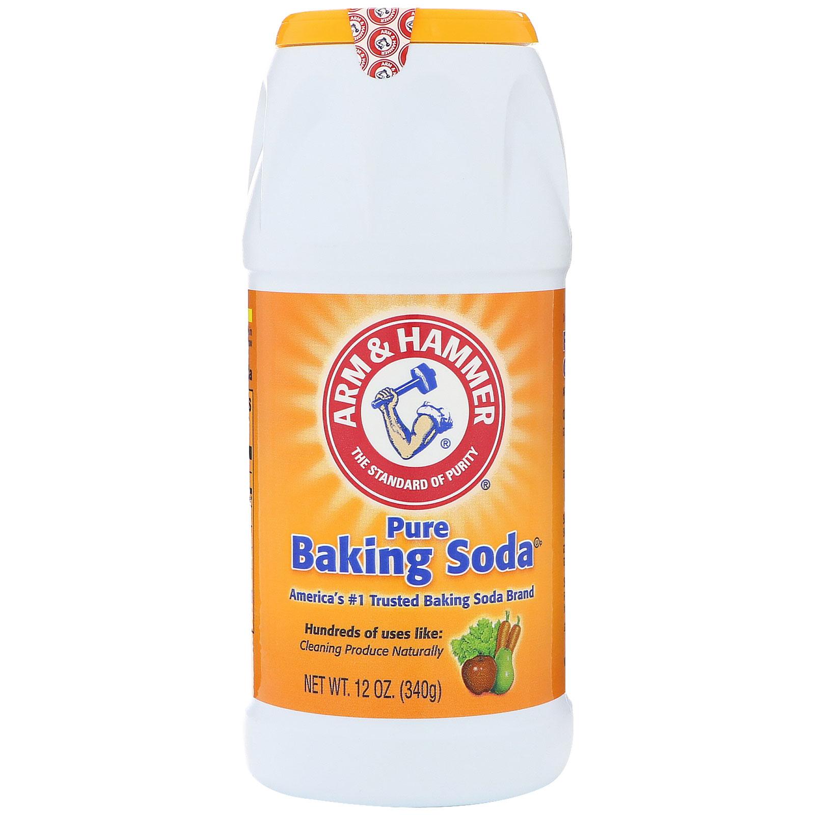 arm hammer pure baking soda shaker 12 oz 340 g iherb com