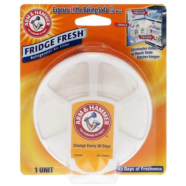 Arm & Hammer, Fridge Fresh 냉장 공기 정화 필터, 1 개 (Discontinued Item)