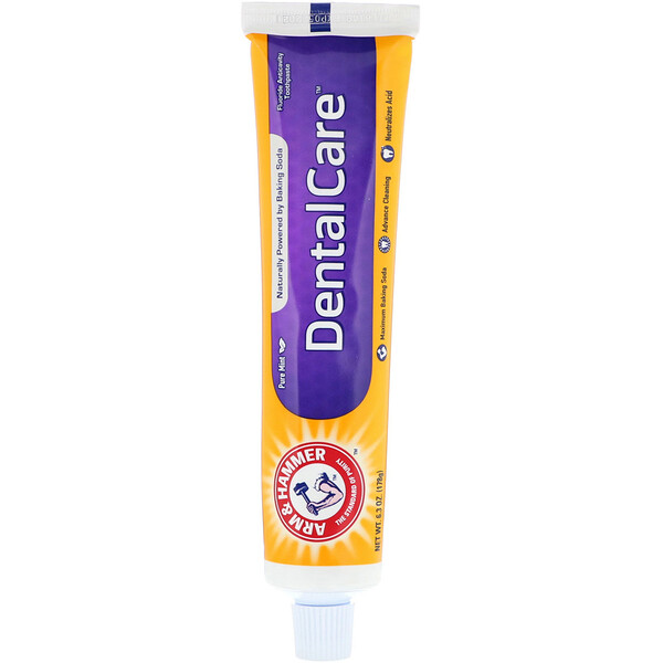 Dental Care, Fluoride Anticavity Toothpaste, Pure Mint, 6.3 oz (178 g)