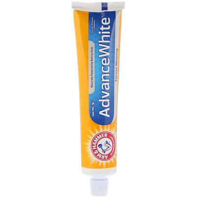 Купить Arm & Hammer Advance White, Baking Soda & Peroxide Toothpaste, Extreme Whitening with Stain Defense, 6.0 oz (170 g)
