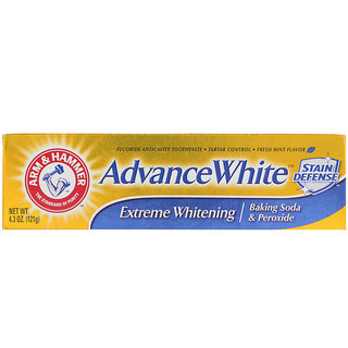 Arm & Hammer, Advance White, Baking Soda & Peroxide Toothpaste, Extreme Whitening, 4.3 oz (121 g)