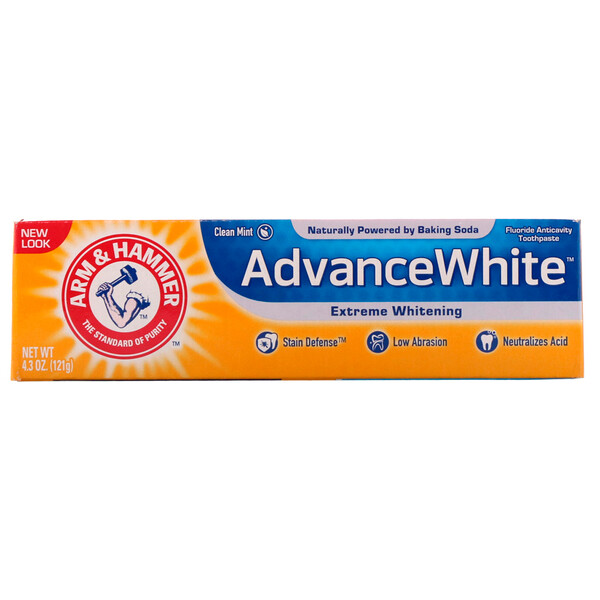 Arm & Hammer, AdvanceWhite Baking Soda & Peroxide Toothpaste, Extreme Whitening, 4.3 oz (121 g)