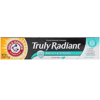 Arm & Hammer Truly Radiant,亮白和強健牙膏,清新薄荷,4.3盎司(121克)
