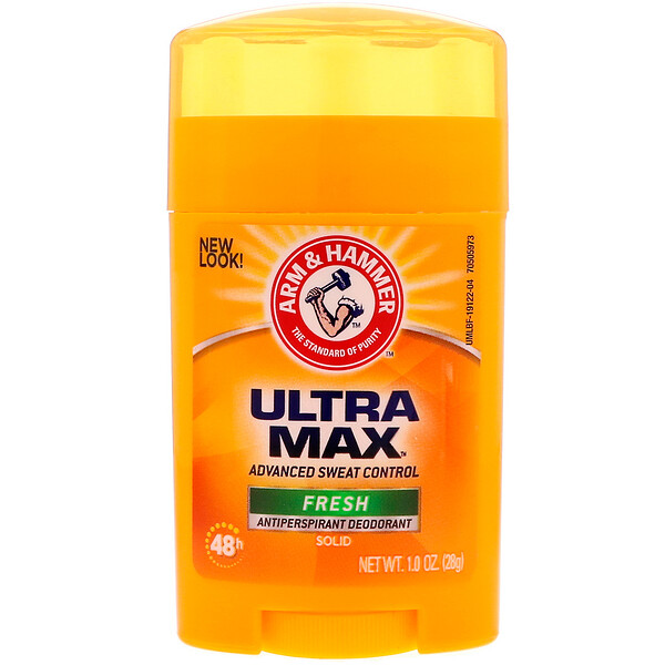 Arm & Hammer, UltraMax, Antiperspirant Solid Deodorant, For Men, Fresh, 1.0 oz (28 g)