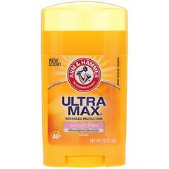 Arm & Hammer, UltraMax, твердый дезодорант-антипреспирант, для женщин, порошковый и свежий, 28 г