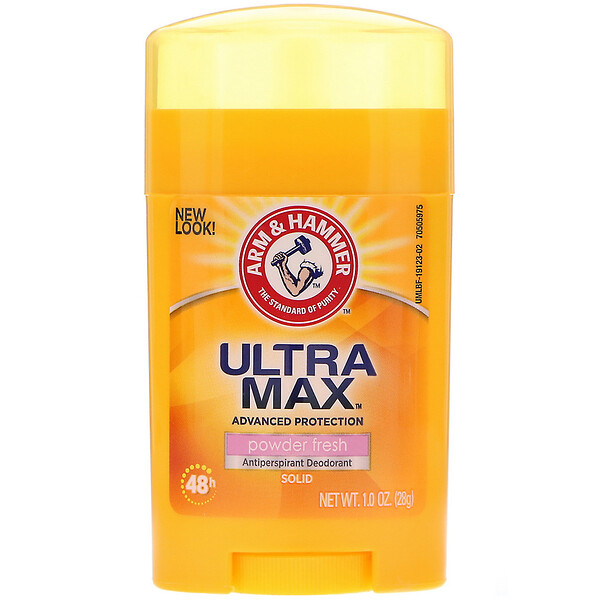 Arm & Hammer, UltraMax, Antiperspirant Solid Deodorant, For Women, Powder Fresh, 1.0 oz (28 g)