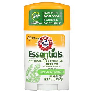 Arm & Hammer, Essentials con desodorizantes naturales, Desodorante, Romero y lavanda, 28g (1oz)