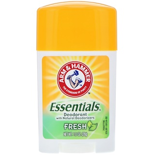Arm & Hammer, Essentials Natural Deodorant, For Men and Women, Fresh, 1.0 oz (28 g)