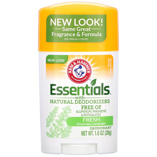 Arm & Hammer, Essentials with Natural Deodorizers, Deodorant, Fresh Rosemary Lavender, 1.0 oz (28 g)