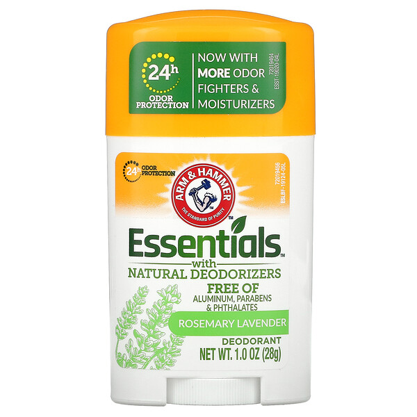 Essentials with Natural Deodorizers, Deodorant, Rosemary Lavender, 1 oz (28 g)