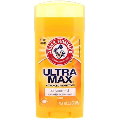 Купить Arm & Hammer UltraMax, твердый антиперспирантный дезодорант, для женщин, без запаха, 2, 6 унц. (73 г)