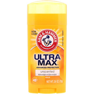 Arm & Hammer, UltraMax, Solid Antiperspirant Deodorant, for Women, Unscented, 2.6 oz (73 g)