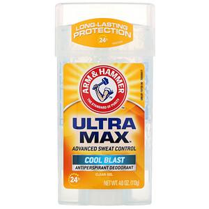 Arm & Hammer, UltraMax, Clear Gel Antiperspirant Deodorant, for Men, Cool Blast, 4.0 oz (113 g) отзывы покупателей