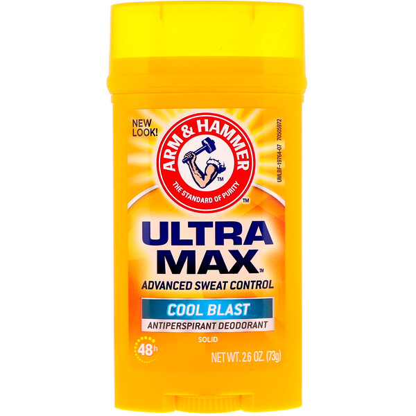 UltraMax, Solid Antiperspirant Deodorant, for Men, Cool Blast, 2.6 oz (73 g)